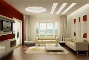 Thiết kế nội thất kế hợp màu đỏ và trắng