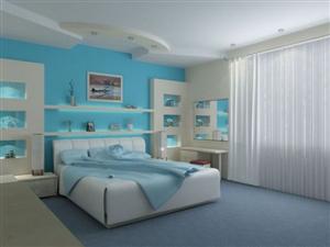Chất lượng giấc ngủ tốt hơn với phòng ngủ màu xanh