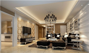 Thiết kế phòng khách với màu sắc cổ điển